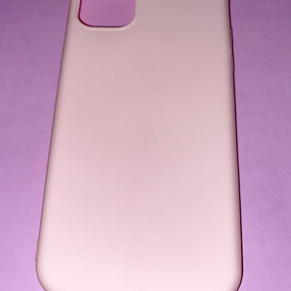 Capa case iphone 11 rosa claro