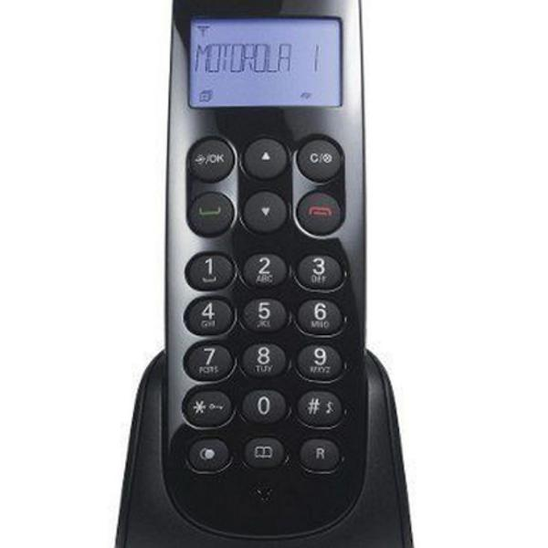 Telefone sem fio motorola 700 id preto c/ ident. agenda