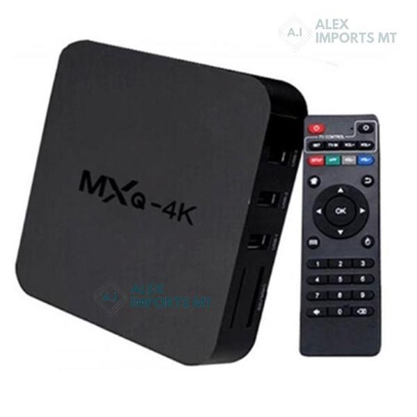 Tv box smart tv mxq quad core 4k android 8.1 global time
