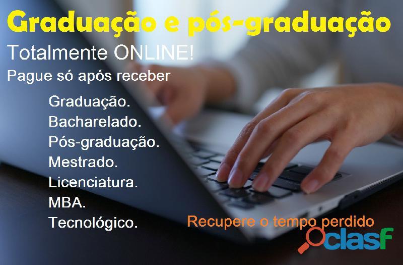 Cursos de graduação e pós graduação online