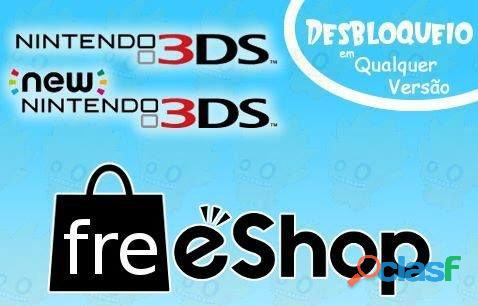 Desbloqueio nintendo ds, 3ds, new 3ds, 2ds, new 2ds