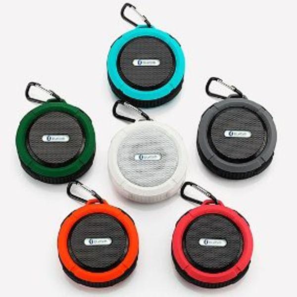 Caixa de som bluetooth c6 resistente a água e viva voz