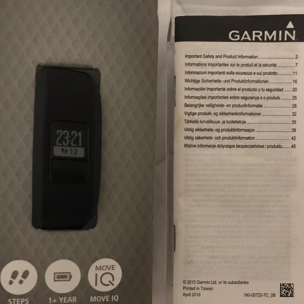 Smartband garmin vivofit 3 - preto