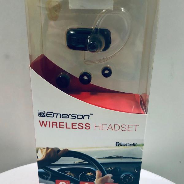 Headset wireless emerson com bluetooth sem uso