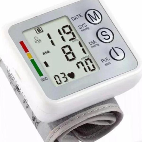Medidor de pressão arterial pulso automático com voz