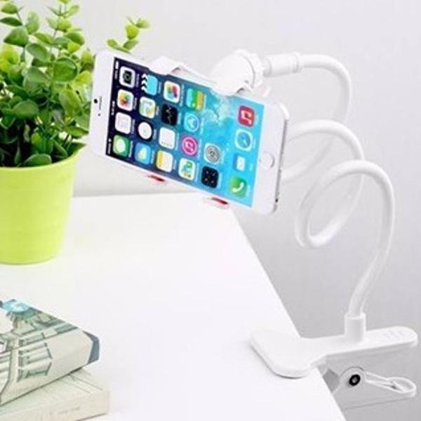 Suporte flexível para celular branco