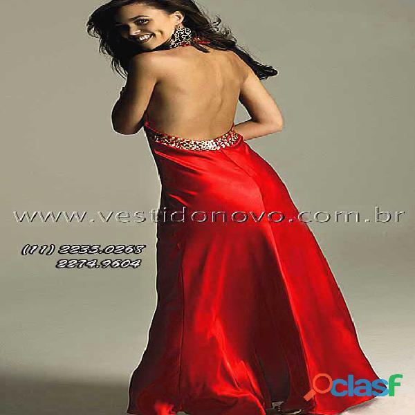 Vestido vermelho com dourado, formatura 1