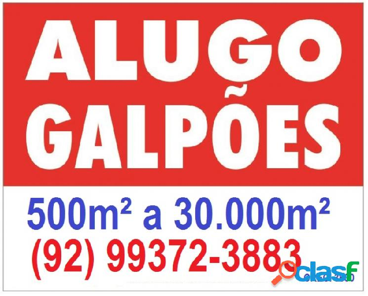 Galpão - aluguel - manaus - am - distrito 1)