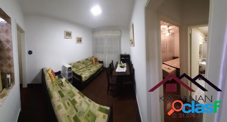 Apartamento 1 dormitório - vista mar - embaré - santos