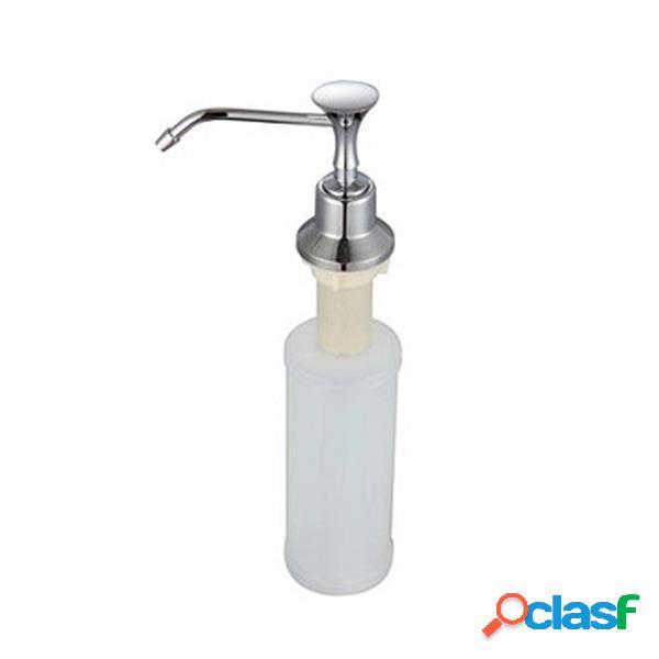 Cozinha cromada aço inoxidável sabonete líquido dispenser saboneteira sabão garrafa