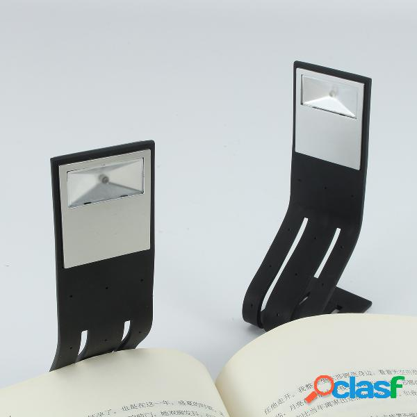 Led clip on flexible book bed travel light reading booklight night bright lamp