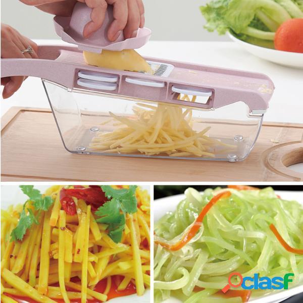 Cortador de legumes com lâmina de aço mandoline slicer descascador de batata alho ralador utensílios de cozinha