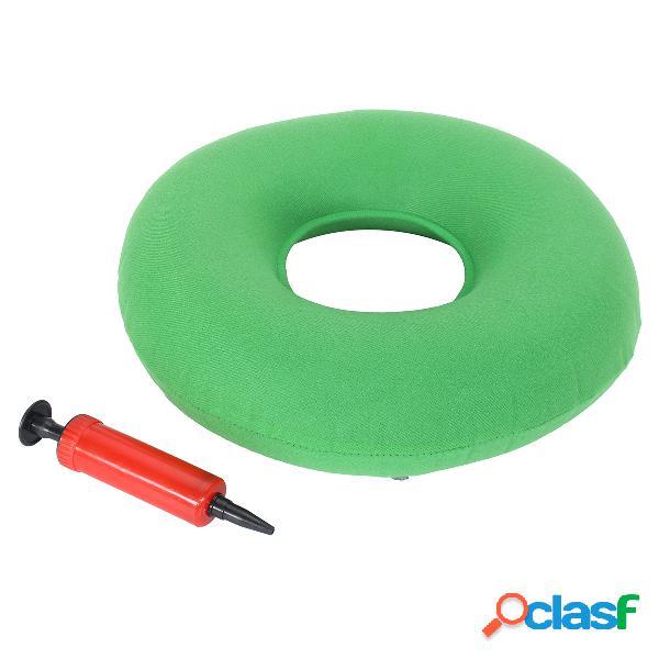 Almofada de borracha inflável redonda de 35cm almofada de anel de hemorróida assento de rosca médica