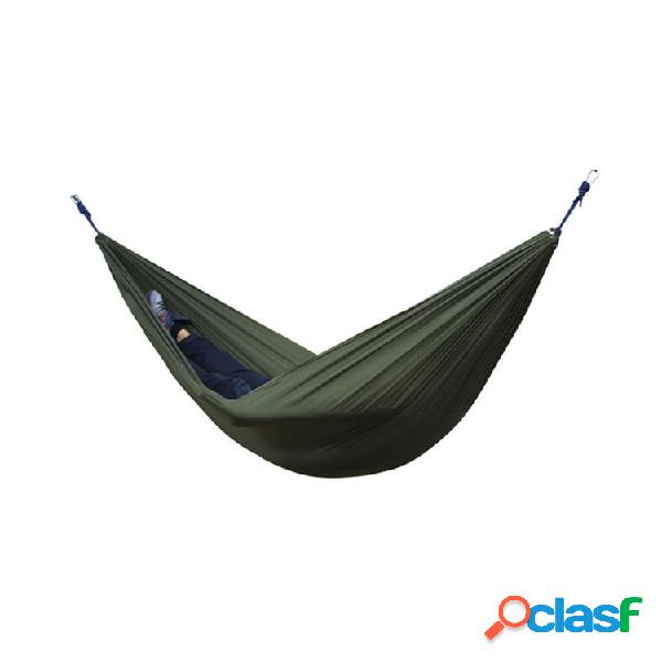 Portátil 270x140cm hammock camping 210t nylon double hanging swing bed load 250kg
