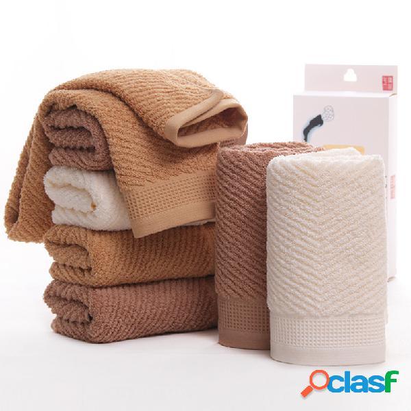 Toalha de banho de algodão macio toalha de algodão longo-grampeador absorvente de suor de água grossa