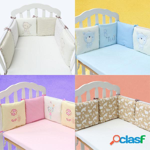 6pcs bebê infantil berço berço pára-choque protetor de segurança infante infantil bermuda conjunto