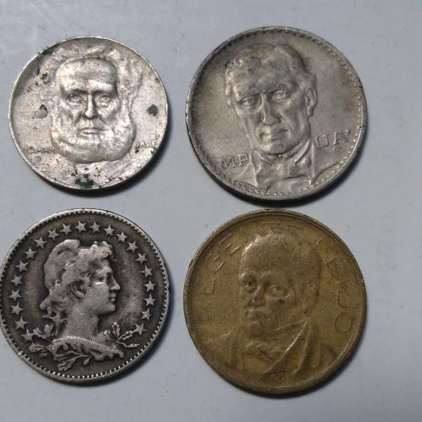 4 moedas antigas réis brasil + brinde