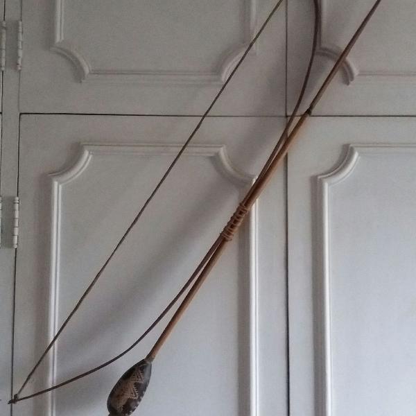 Arco e flecha decorativo artesanal índio raro