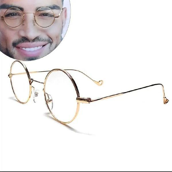 Armação metal óculos redondo unissex 4.1