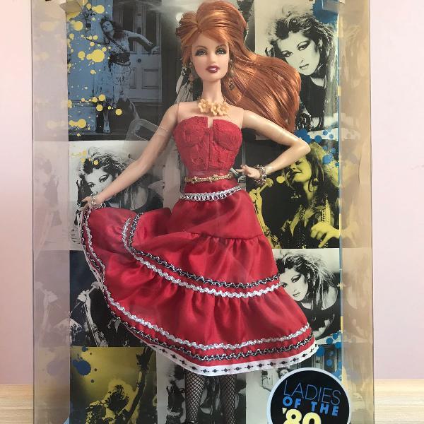 Barbie colecionável. ladies of the 80's cyndi lauper
