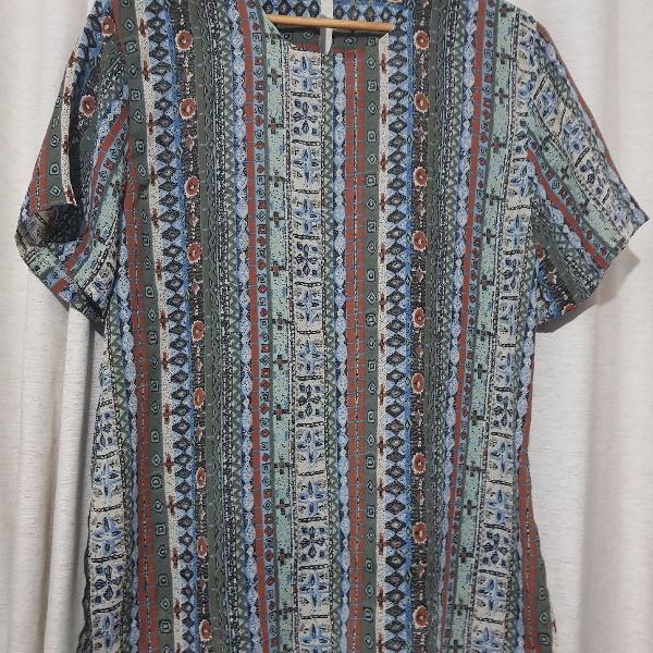 Blusa estampada vintage