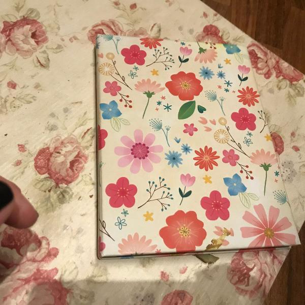 Caderno floral florido importado caderno floral florido