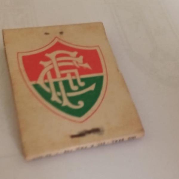 Caixa de fósforo fluminense football club conteúdo cheio