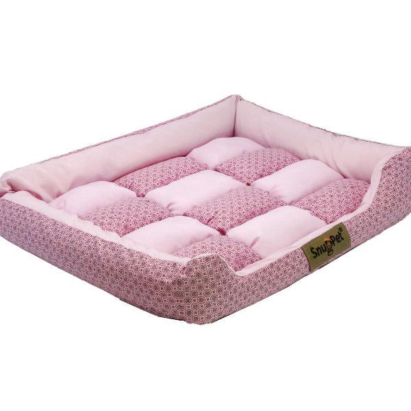 Cama pet rosa pompom 50x40x10