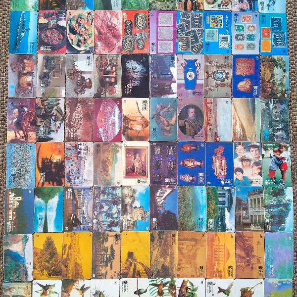 Cartões telefônicos antigos variados 1.165 unidades