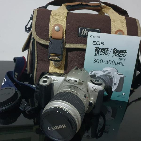Câmera analógica canon rebel eos 300 rebel 2000