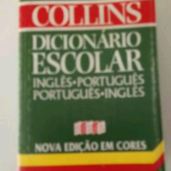 Dicionário collins ingles - portugues. portugues - ingles