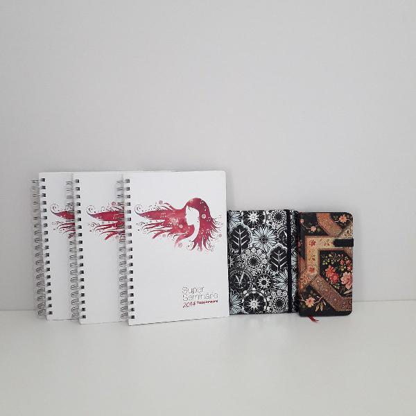 Kit 5 cadernos capa dura