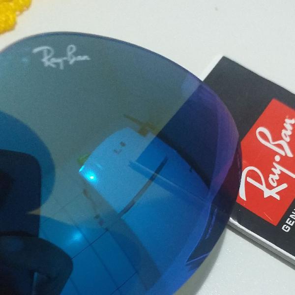 Lente azul original ray ban 56mm