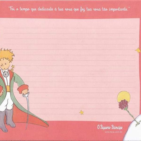 Lote papéis de carta do pequeno príncipe