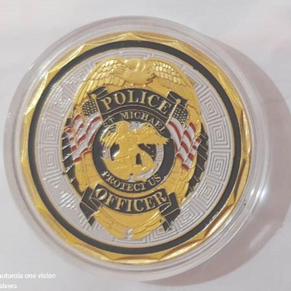 Moeda americana police officer - st. michael arc. - souvenir