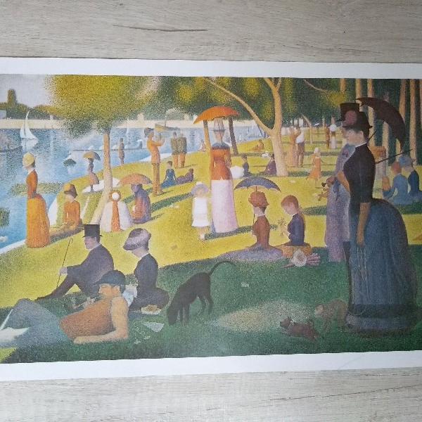 Uma tarde de domingo - seurat (1884-1886)