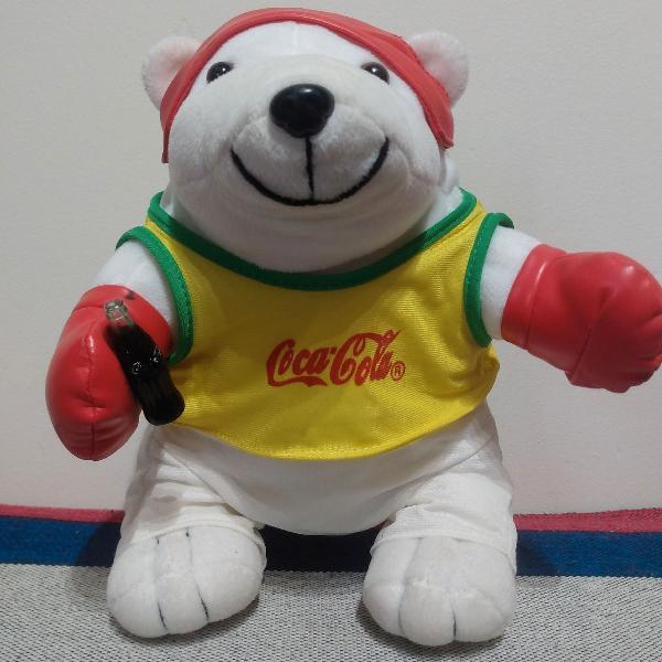 Urso coleção coca cola esporte boxe - excelente estado de