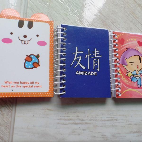 Caderninhos de anotações pequenos