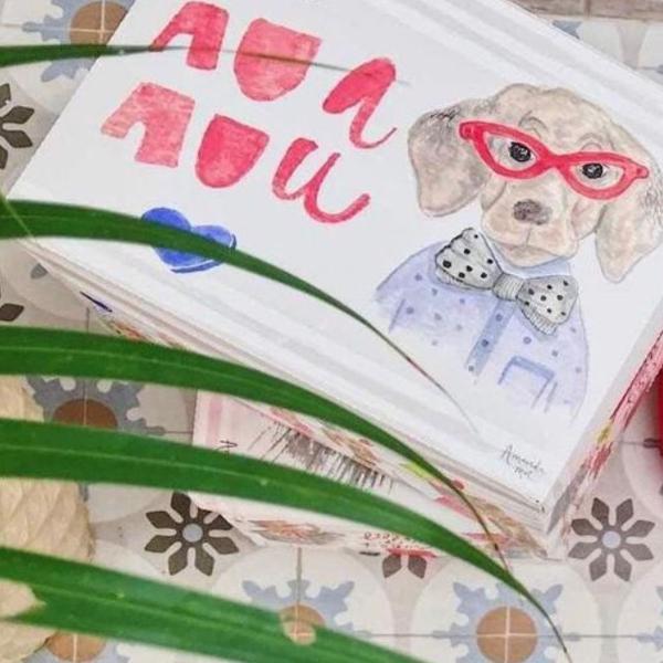 Caixa organizadora para cães