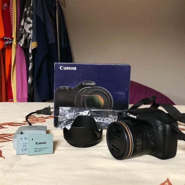 Câmera semi profissional canon powershot sx520hs + parasol