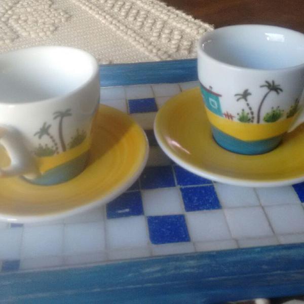 Conjunto de café da vovó célia