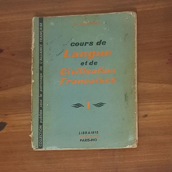 Livro curso francês cours de langue et de civilisation