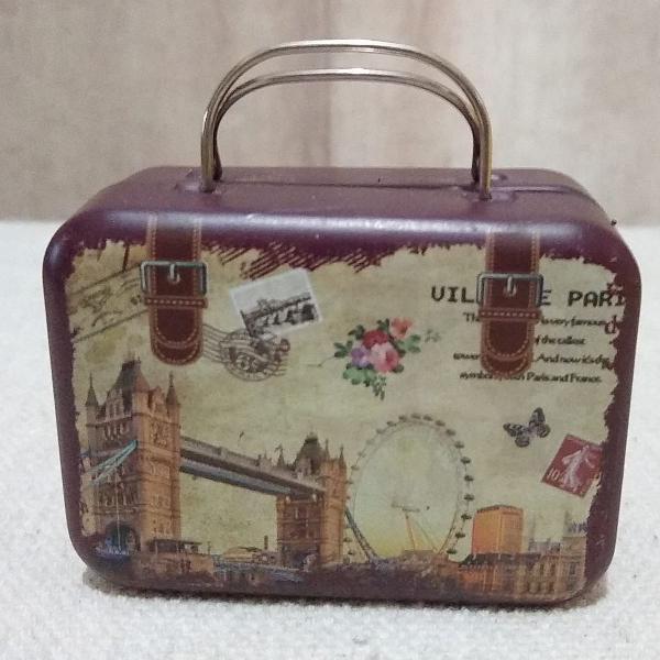 Mini lata metal mala - porta objeto/treco