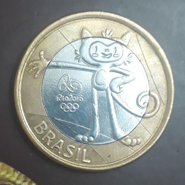 Moeda de colecionador comemorativa olimpíada mascote