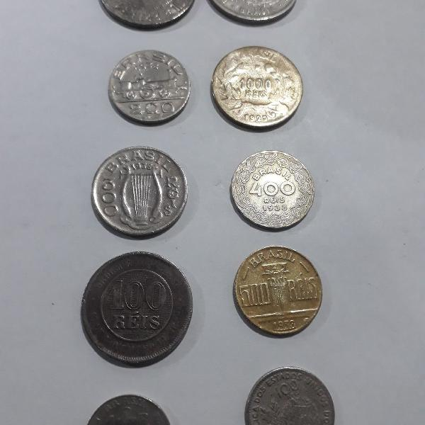 Moedas réis. set com 10 moedas