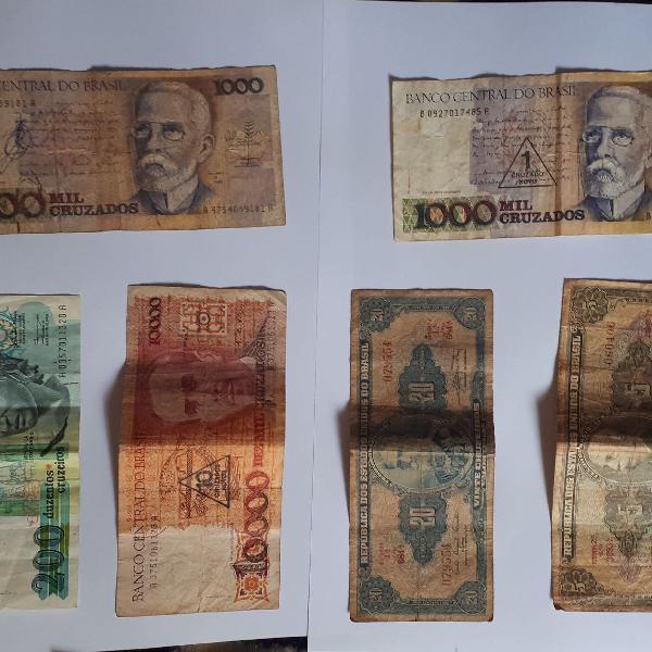 Notas antigas brasil