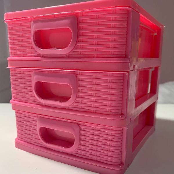 Porta treco/ organizador rosa