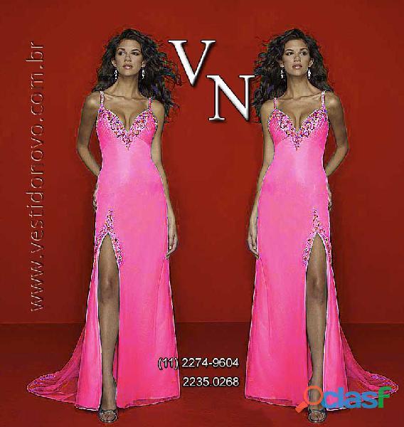 Vestido pink, fenda frontal , festa formatura