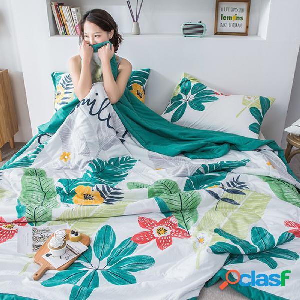 Soft algodão toalha cobertores para camas soft abacate colcha de verão queen size capa de sofá capa de cama colcha folha