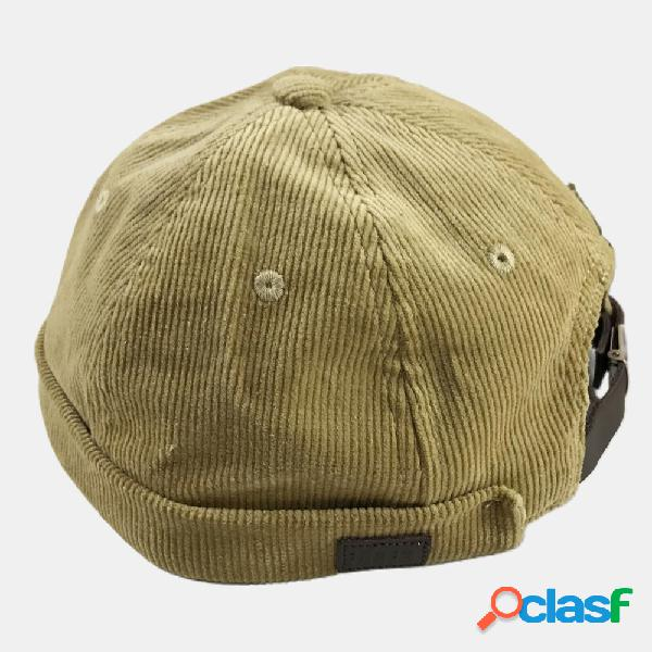 Chapéu de veludo masculino e feminino de veludo masculino e feminino da moda original retrô selvagem hip-hop de outono
